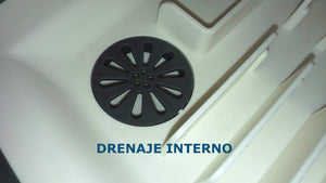 ESCURRIDOR DE PLATOS PLEGABLE CON DRENAJE INTERNO PROGRESSIVE +
