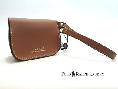 RALPH LAUREN MiniBag / Monedero en Cuero Fino Color Camello