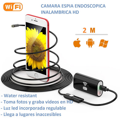 CAMARA INALAMBRICA HD ENDOSCOPICA PARA IOS Y ANDROID
