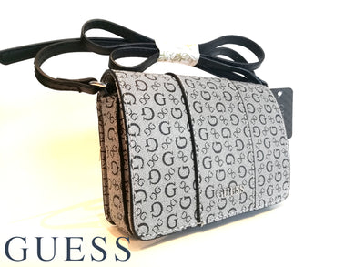 GUESS Shoulder Bag cross body small Coal logo Sandhill Mini