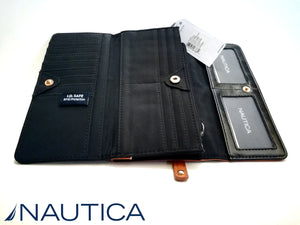 NAUTICA BILLETERA mujer The Perfect Carry-All Money Manager con RFID