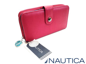 NAUTICA BILLETERA RED ZIP AROUND CON RFID