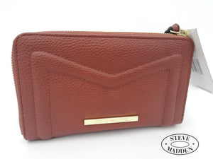 STEVE MADDEN Billetera en Piel Color Cognac