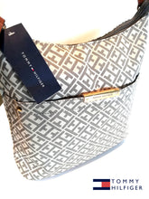 TOMMY HILFIGER TH BOLSO BISQUE Signature Small Hobo