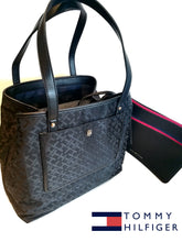 TOMMY HILFIGER  BOLSO EN JACQUARD NEGRO TWICE AS NICE con bolso extra