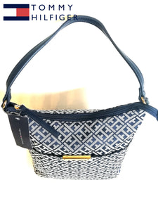 TOMMY HILFIGER TH BOLSO AZUL Signature Small Hobo