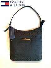 TOMMY HILFIGER TH BOLSO  BLACK IN BLACK Signature Small Hobo