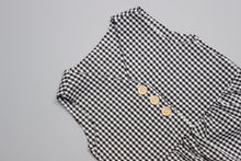 Load image into Gallery viewer, The Lee Romper - Black and White Gingham