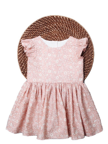 The Eliza Dress - Liberty of London Morning Dew Pink