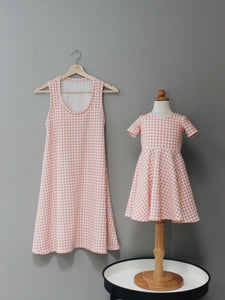 The Twirl Dress - Pink Gingham