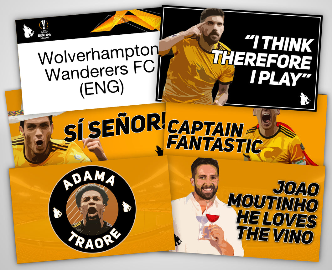 Wolves Europa League Collection Sticker Pack