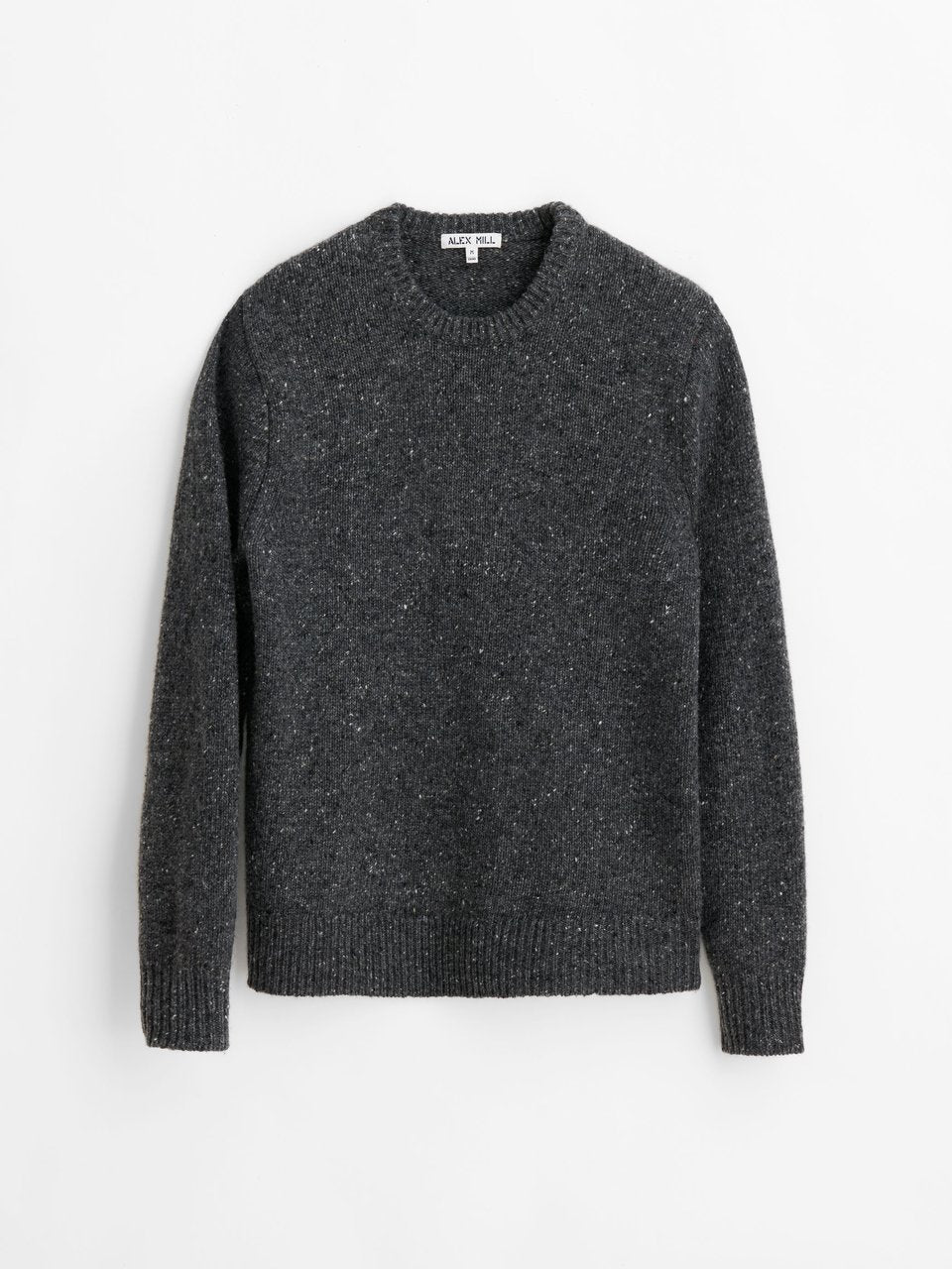 Alex Mill Donegal Crew Neck Sweater - Charcoal