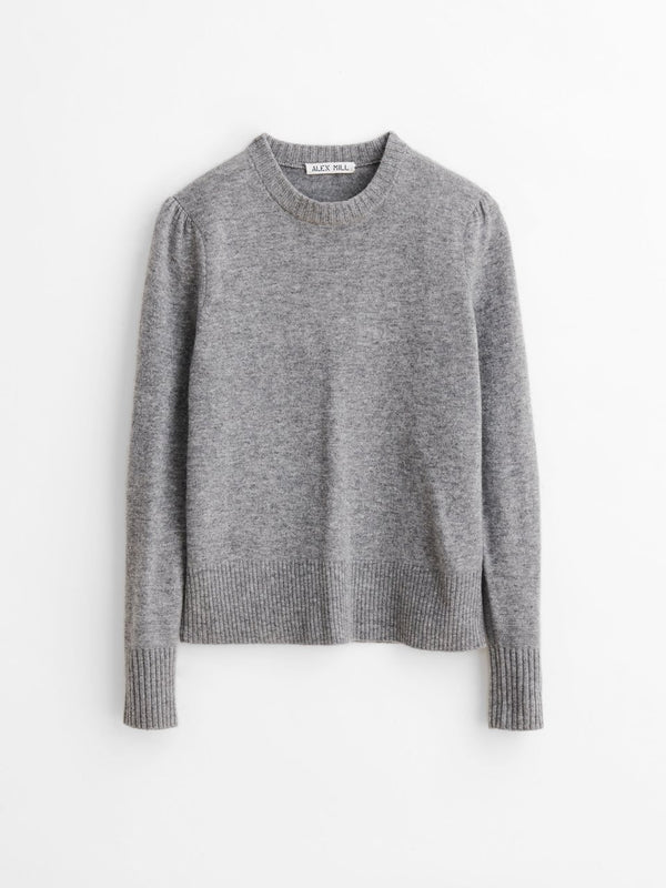 Alex Mill Claire Sweater in Wool Cashmere - Heather Grey