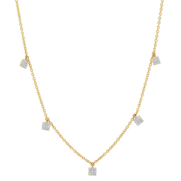 Eriness Diamond Mini Saure Necklace 14K YG