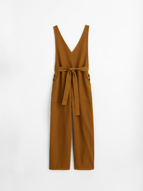 Alex Mill Ollie Overall in Recycled Denim Golden Khaki