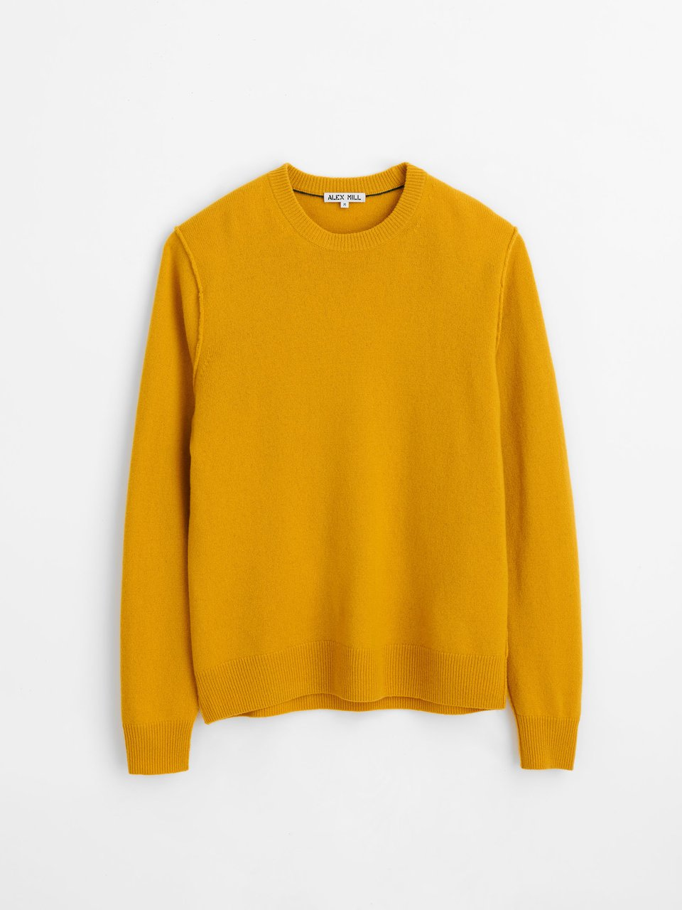 Alex Mill Reverse Seam Sweater in Superfine Merino Wool - Sun