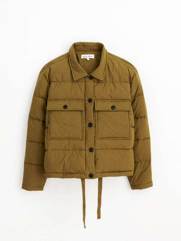 Alex Mill Quilted Cropped Jacket - Olive
