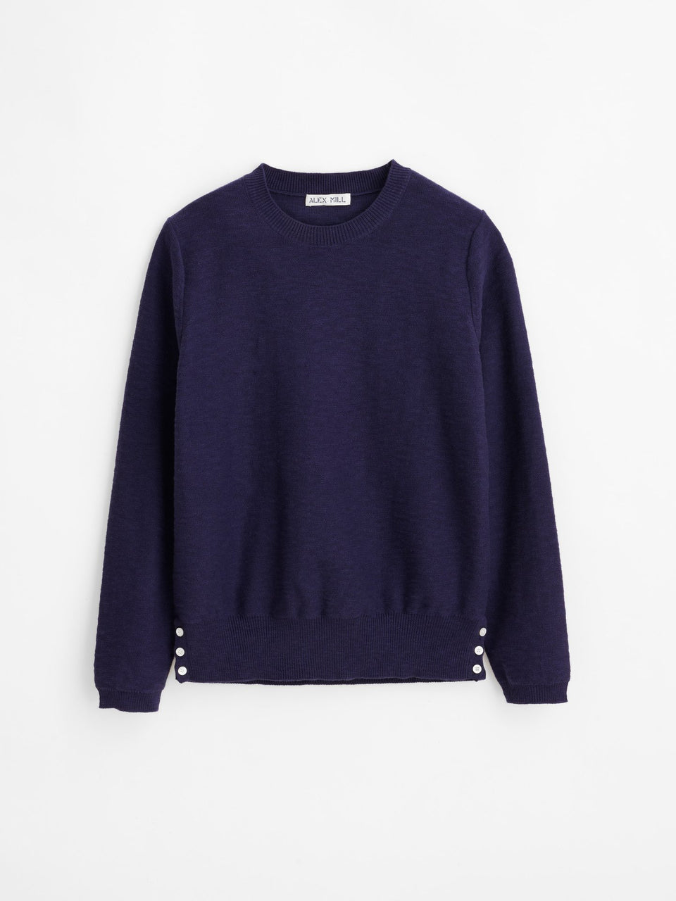 Alex Mill Isabella Button Side Sweater - Navy