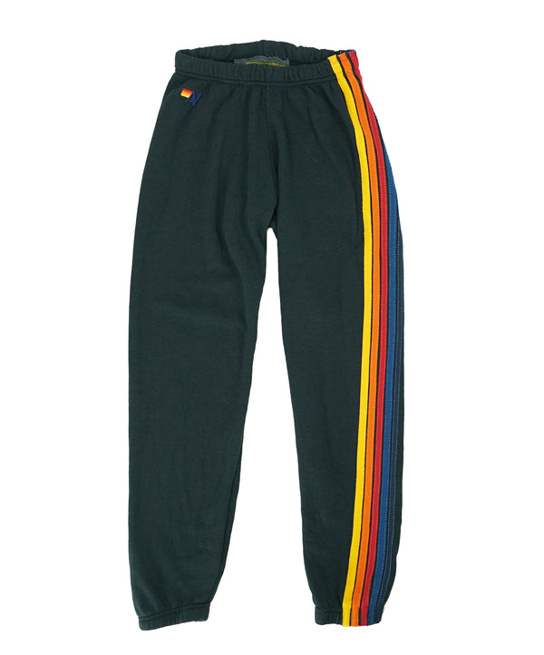 Aviator Nation 5 Stripe WOMENS Sweatpants Charcoal