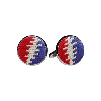Smathers & Branson Steal Your Face Bolts Cufflinks