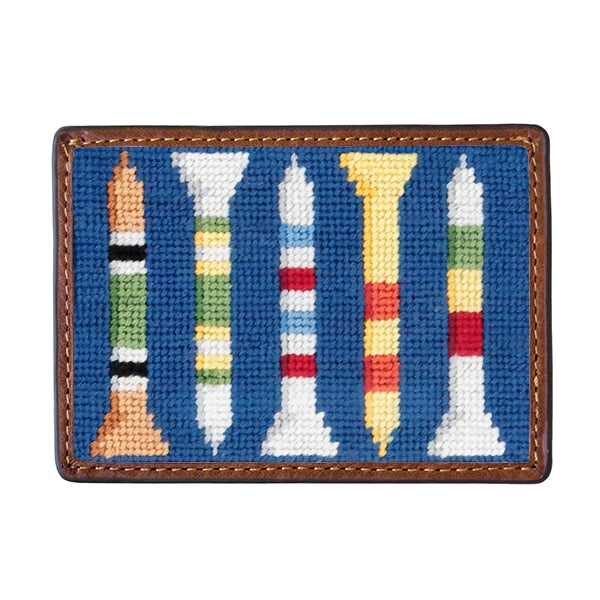 Smathers & Branson Golf Tees Needlepoint Card Wallet