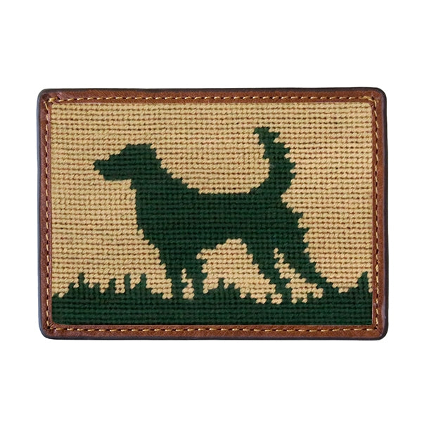 Smathers & Branson Hunting Dog Needlepoint Card Wallet