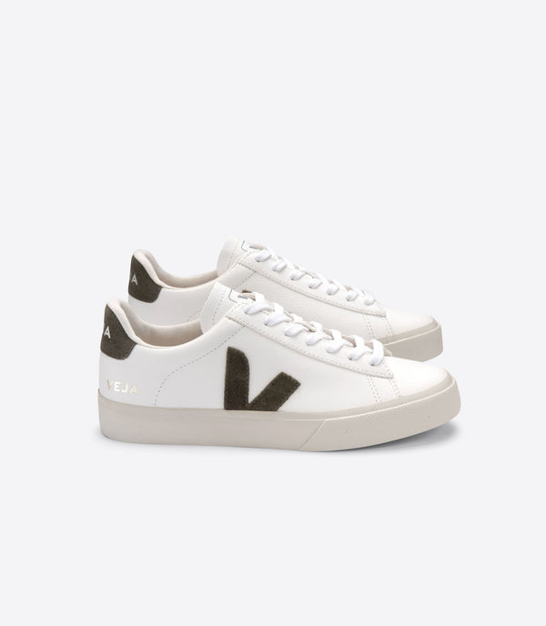Veja Campo Leather White Kaki