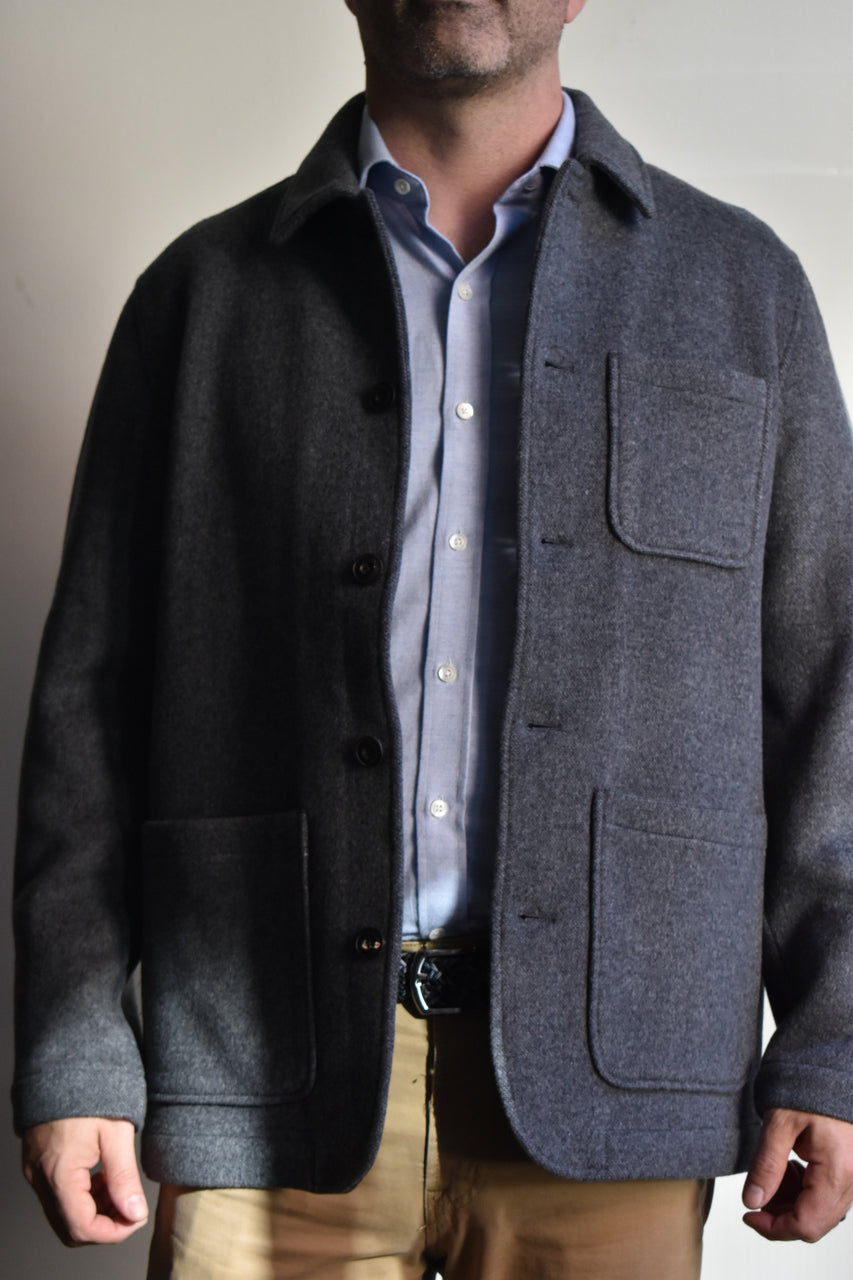 Faherty Chore Coat Grey