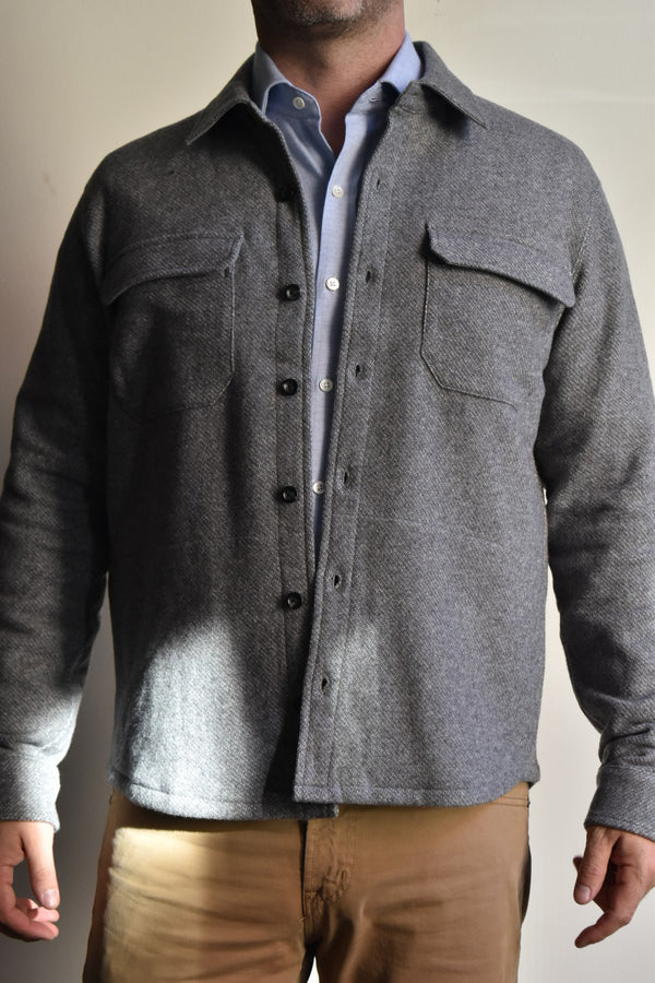 Vince Shirt Jacket Heather Grey