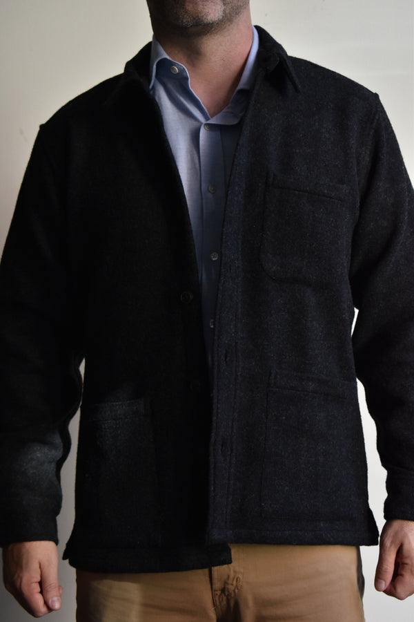 Corridor Lambswool (18oz) Jacket - Charcoal