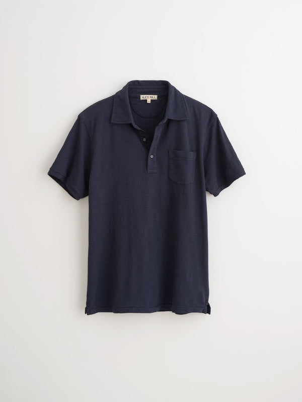 Alex Mill Standard Polo in Slub Cotton - Navy