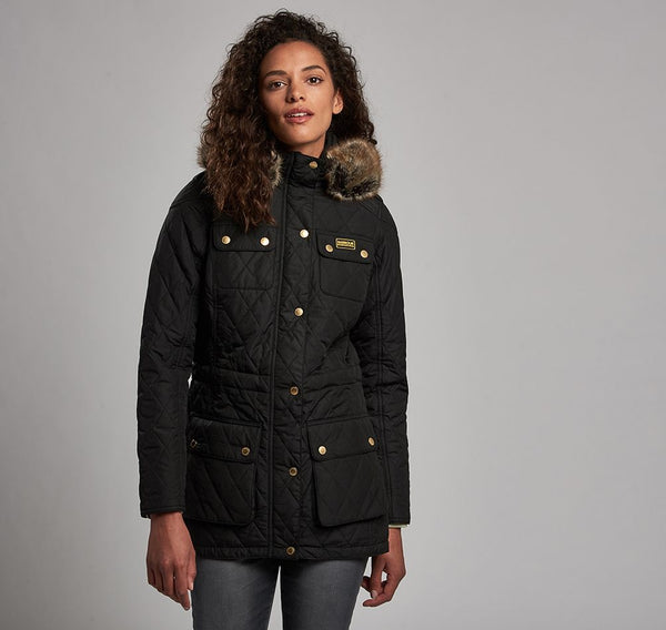 Barbour International Enduro Quilted Jacket  - Black