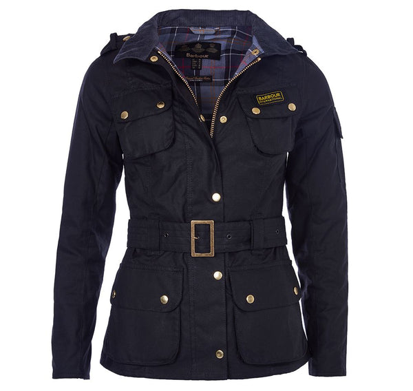 Barbour International Ladies International Wax Jacket  - Black