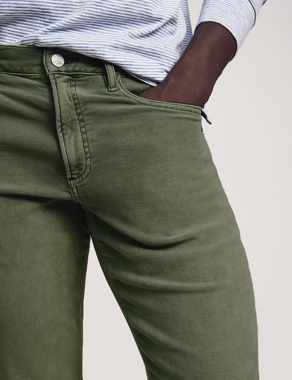 Faherty Stretch Terry 5-Pocket - Olive