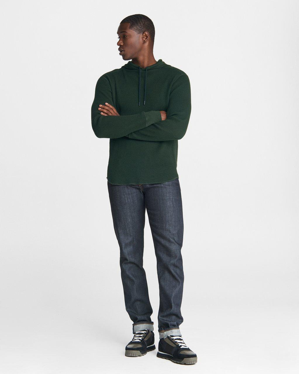 Rag & Bone Caine Cotton Hoodie - Hidden Forest