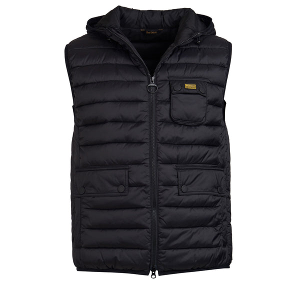 Barbour International Ousten  Hooded Gilet  - Black