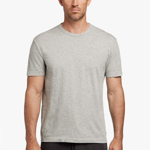 James Perse Short Sleeve Crew Neck  - Heather Grey