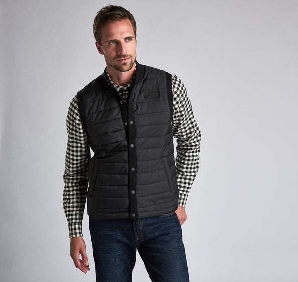 Barbour International Baffle Gilet  - Black