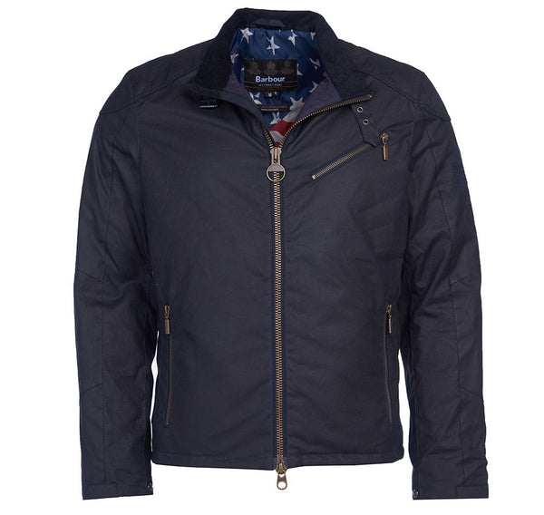 Barbour International Steve McQueen™ Placer Waxed Jacket  - Navy