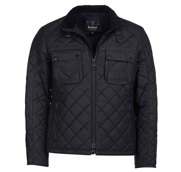 Barbour International Peel Waxed Jacket - Black