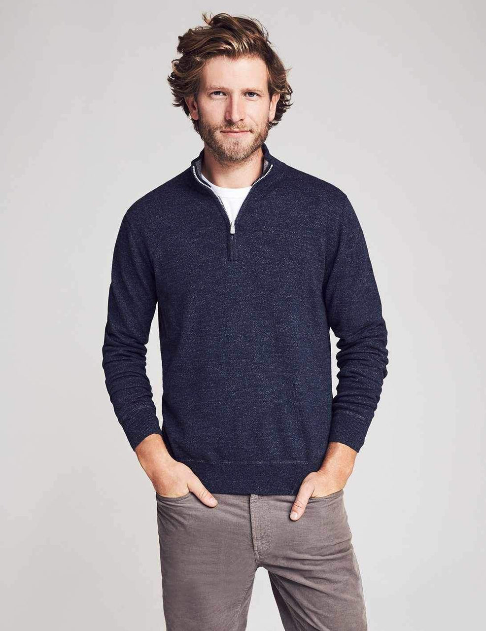 Faherty Sconset Pullover - Navy