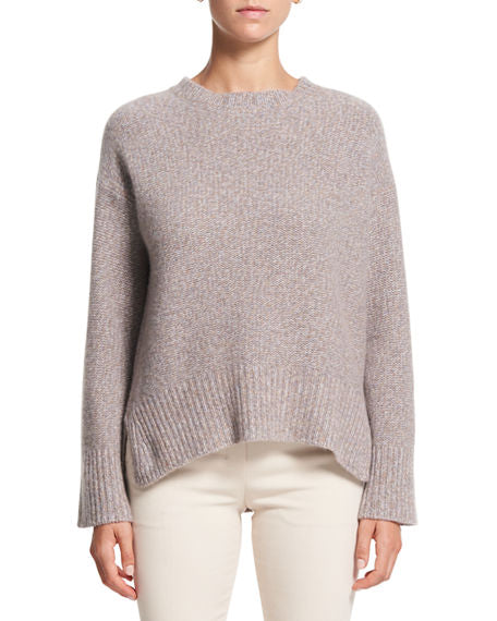 Theory Karenia Marled Knit Cashmere Sweater