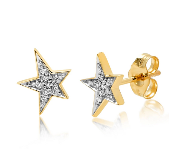 Eriness Diamond Star Studs