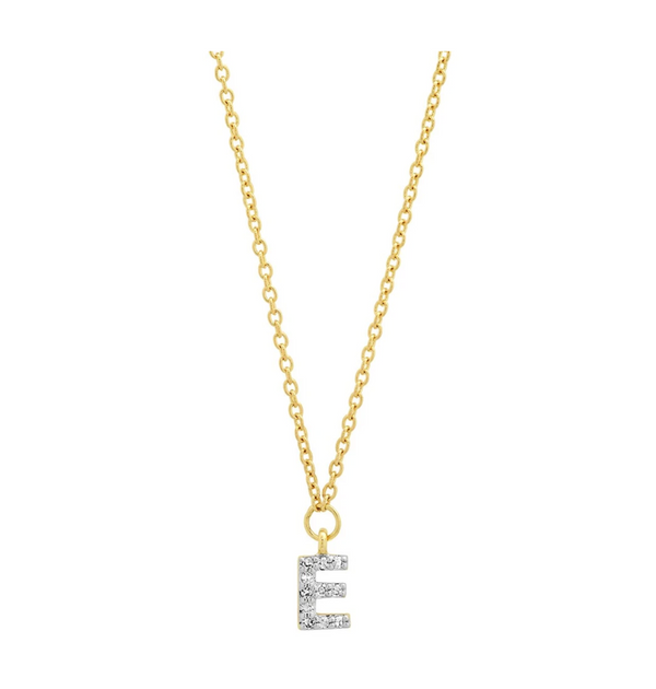 Eriness Diamond Mini Initial Choker