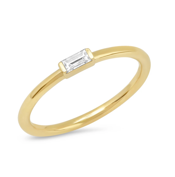 Eriness Diamond Baguette Solitaire Ring