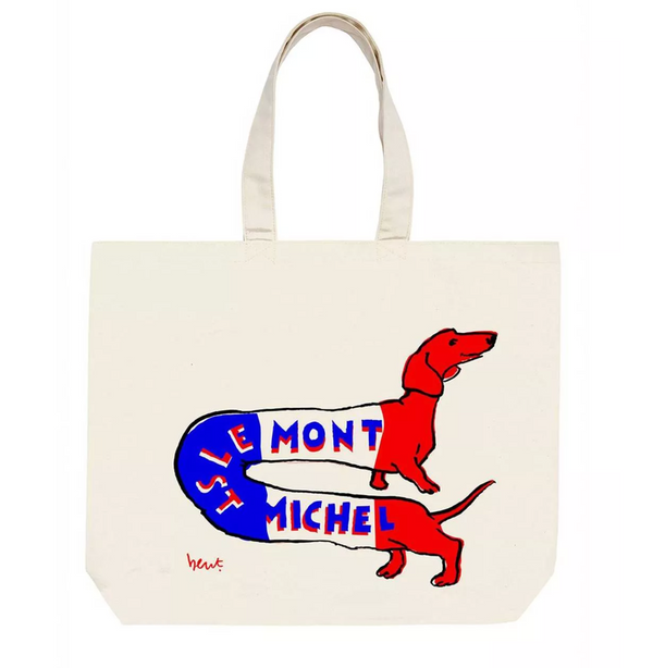 Le Mont St Michel Tote Bag Red/White/Blue