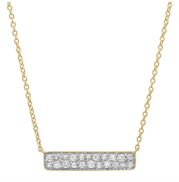 Eriness Diamond Staple Necklace