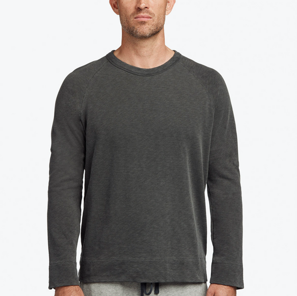 James Perse Vintage Fleece Sweatshirt Carbon Pigment
