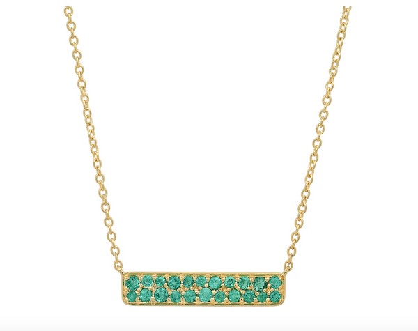 Eriness Emerald Staple Necklace
