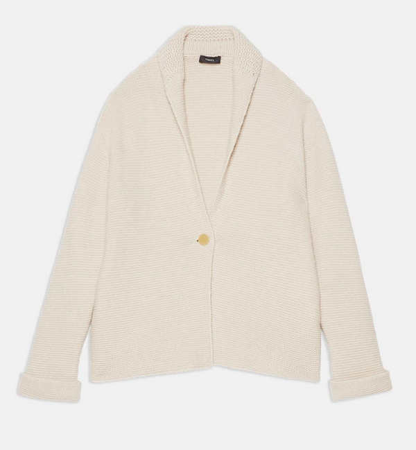 Theory Sweater Coat in Wool-Cashmere